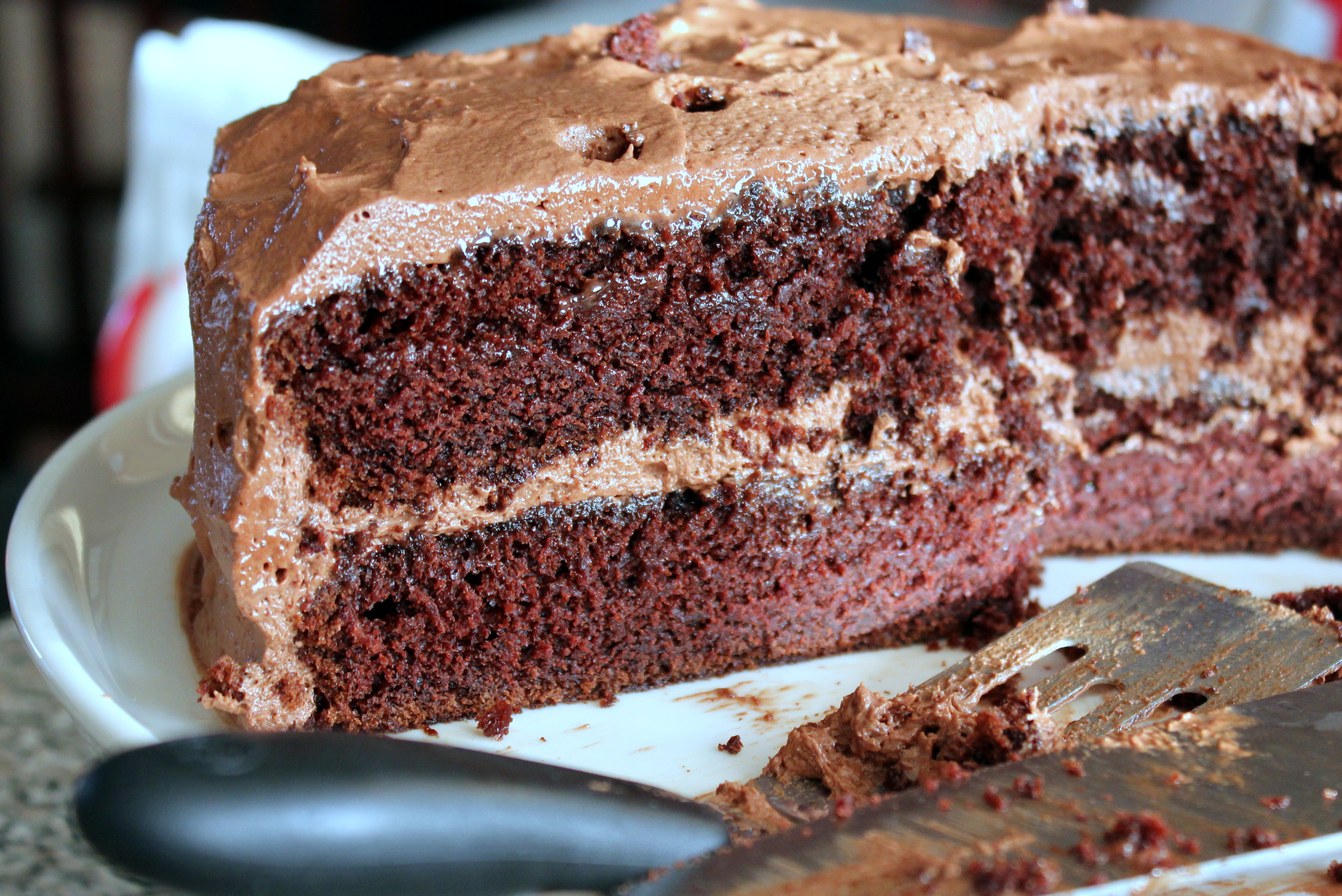 Chocolate cake recipe with buttercream frosting
