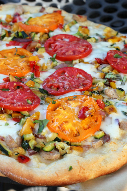 Grilled Summer Vegetable Pizza | A Hint of Honey