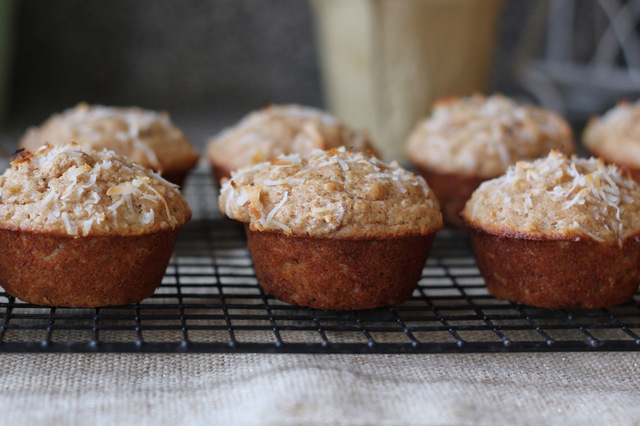 coconut banana muffin