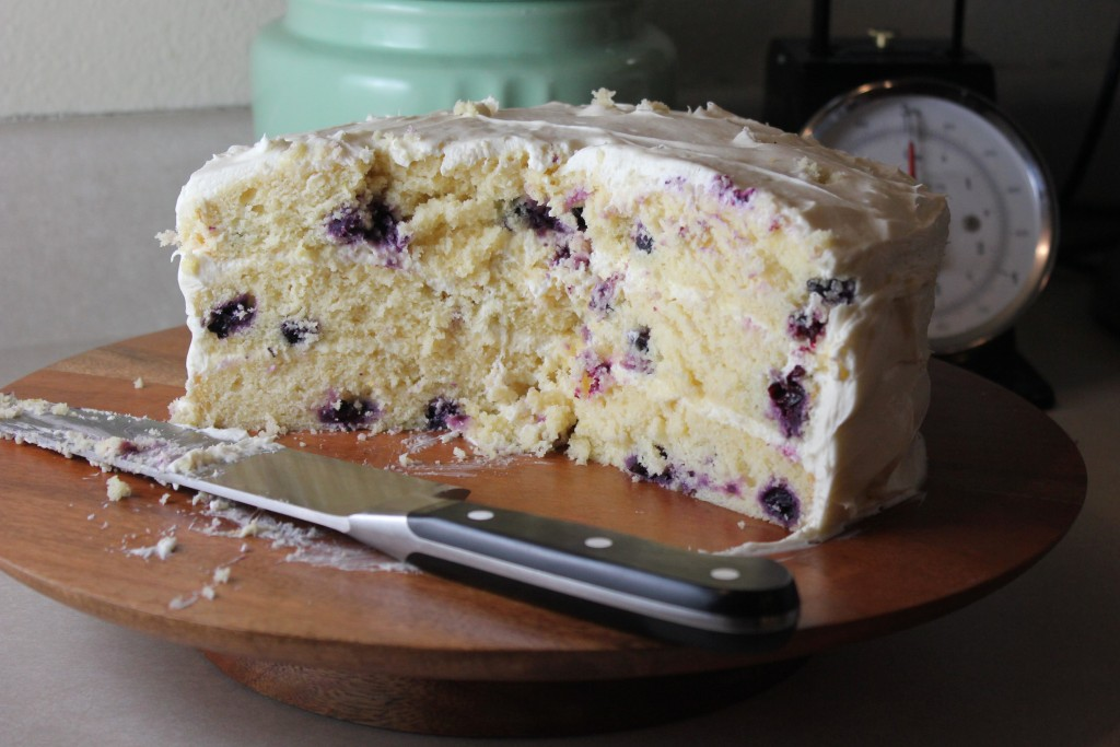 Blueberry Lemon Layer Cake With Whipped Cream Cheese Frosting A