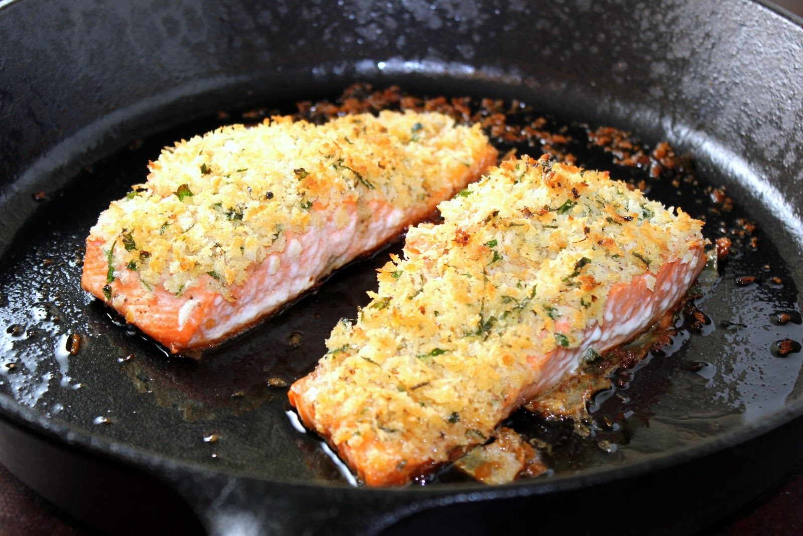 Panko Crusted Salmon | A Hint of Honey