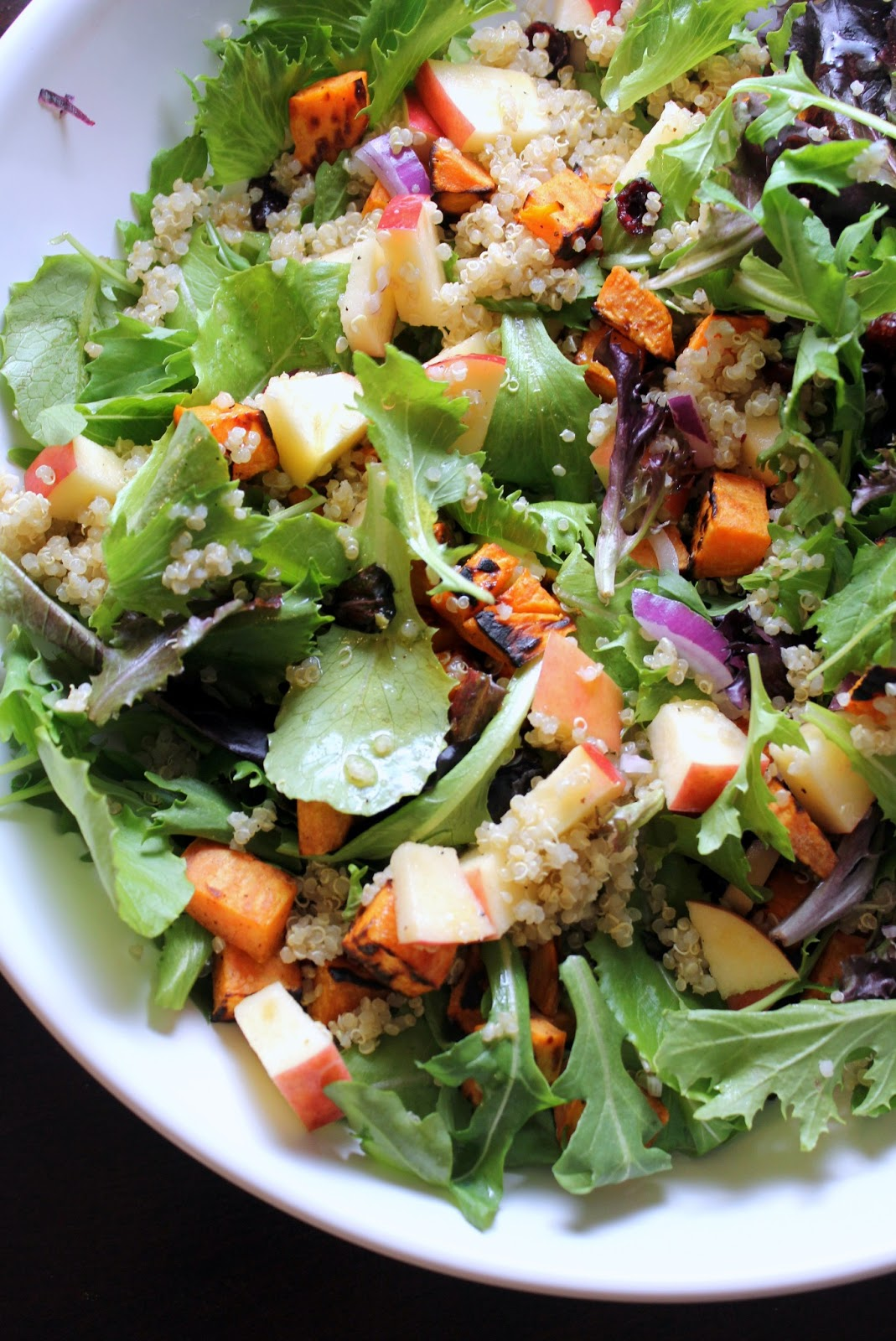 ... with quinoa quinoa roasted eggplant and arugula salad with apples and