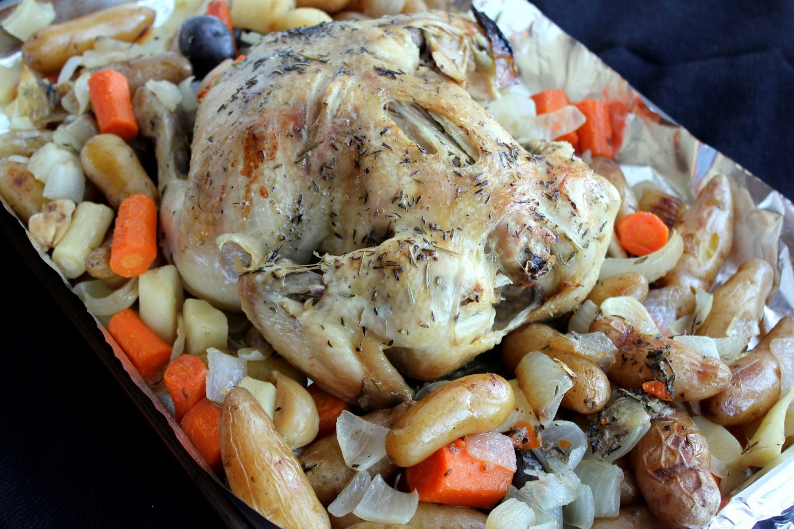 Slow Cooker Roast Chicken and Vegetables with Gravy | A Hint of Honey
