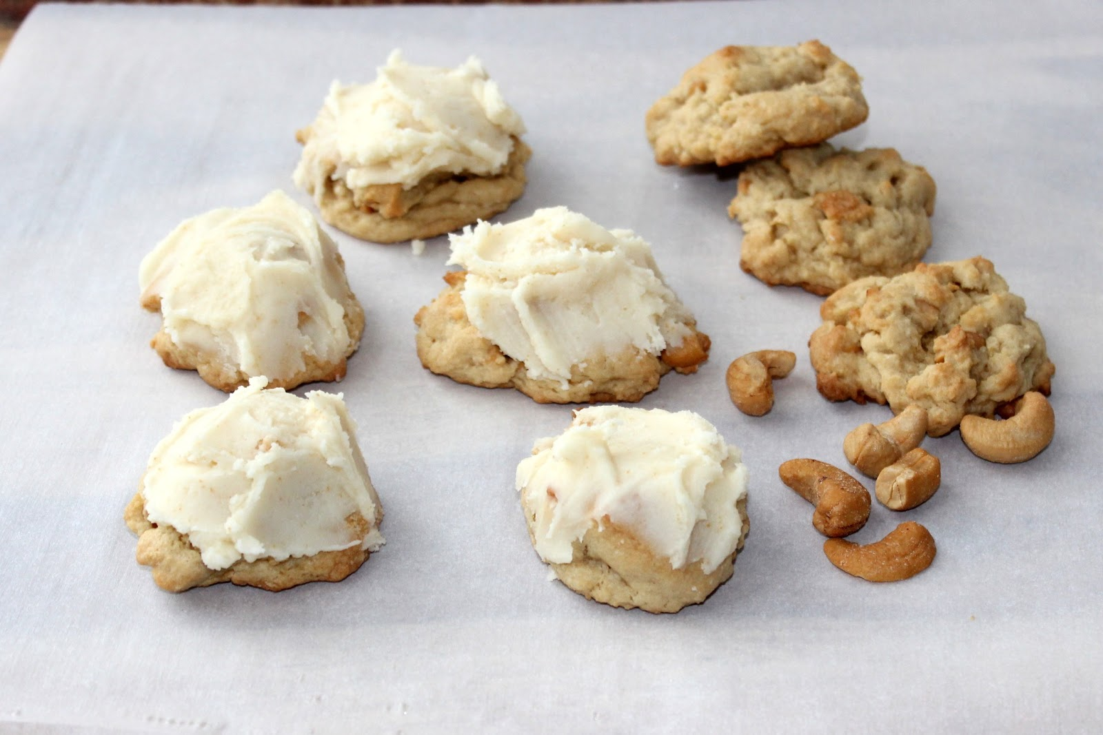 Salted Cashew Cookies with Brown Butter Frosting | A Hint ...
