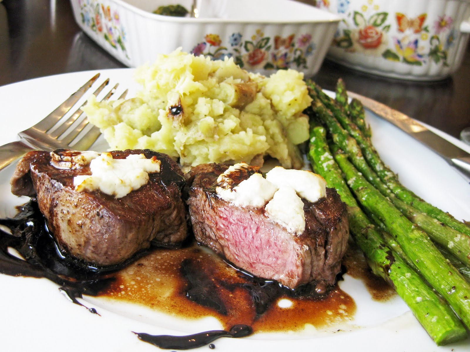 Filet Mignon with Goat Cheese and Balsamic Reduction | A ...  Filet Mignon wi...