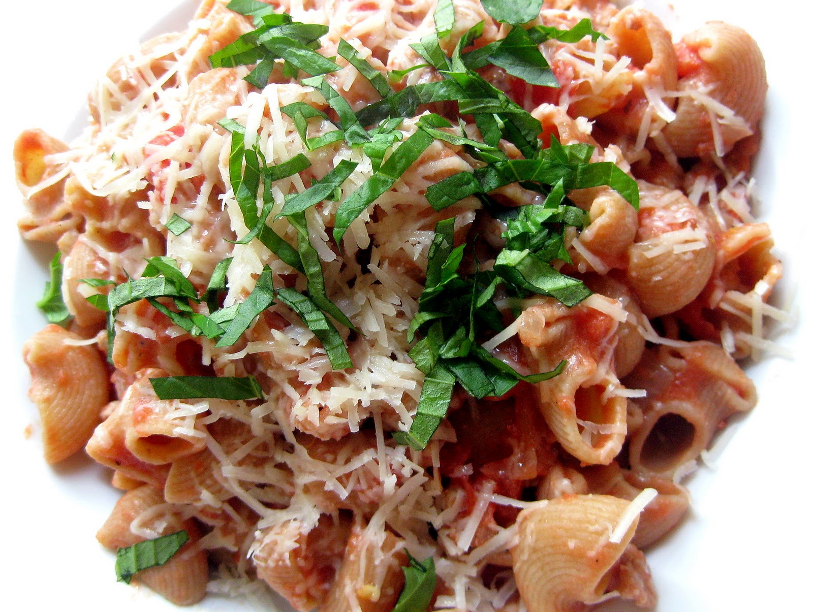 Pasta with Sausage and Tomato Cream Sauce | A Hint of Honey