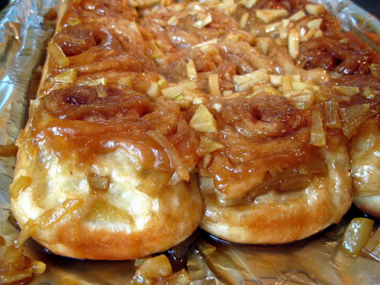 Caramel Apple Sticky Buns | A Hint of Honey