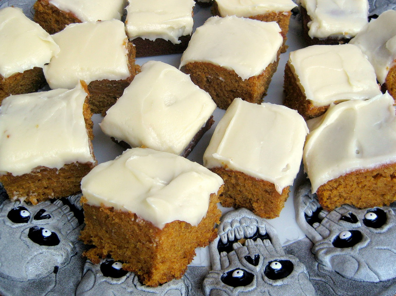 Pumpkin Bars with Cream Cheese Frosting | A Hint of Honey