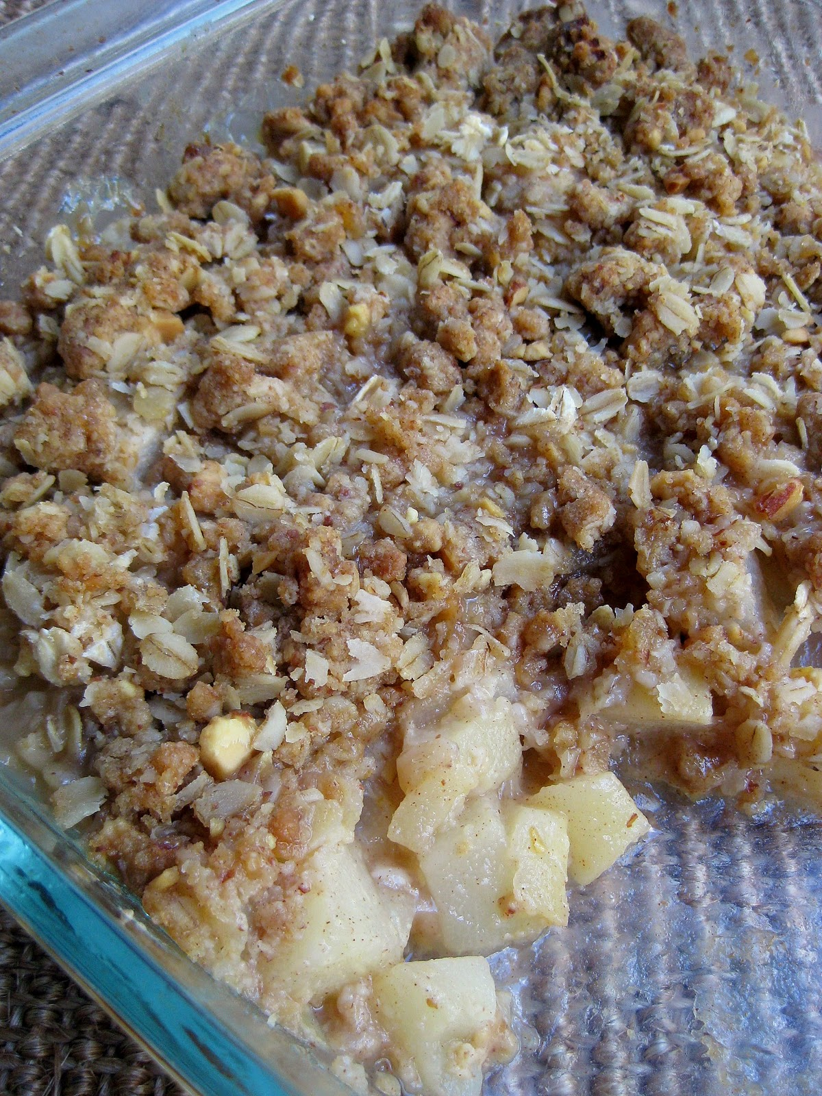 Pear Crisp with Candied Ginger | A Hint of Honey