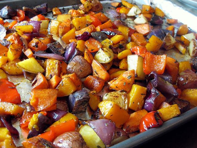 Ассорти из печеных овощей