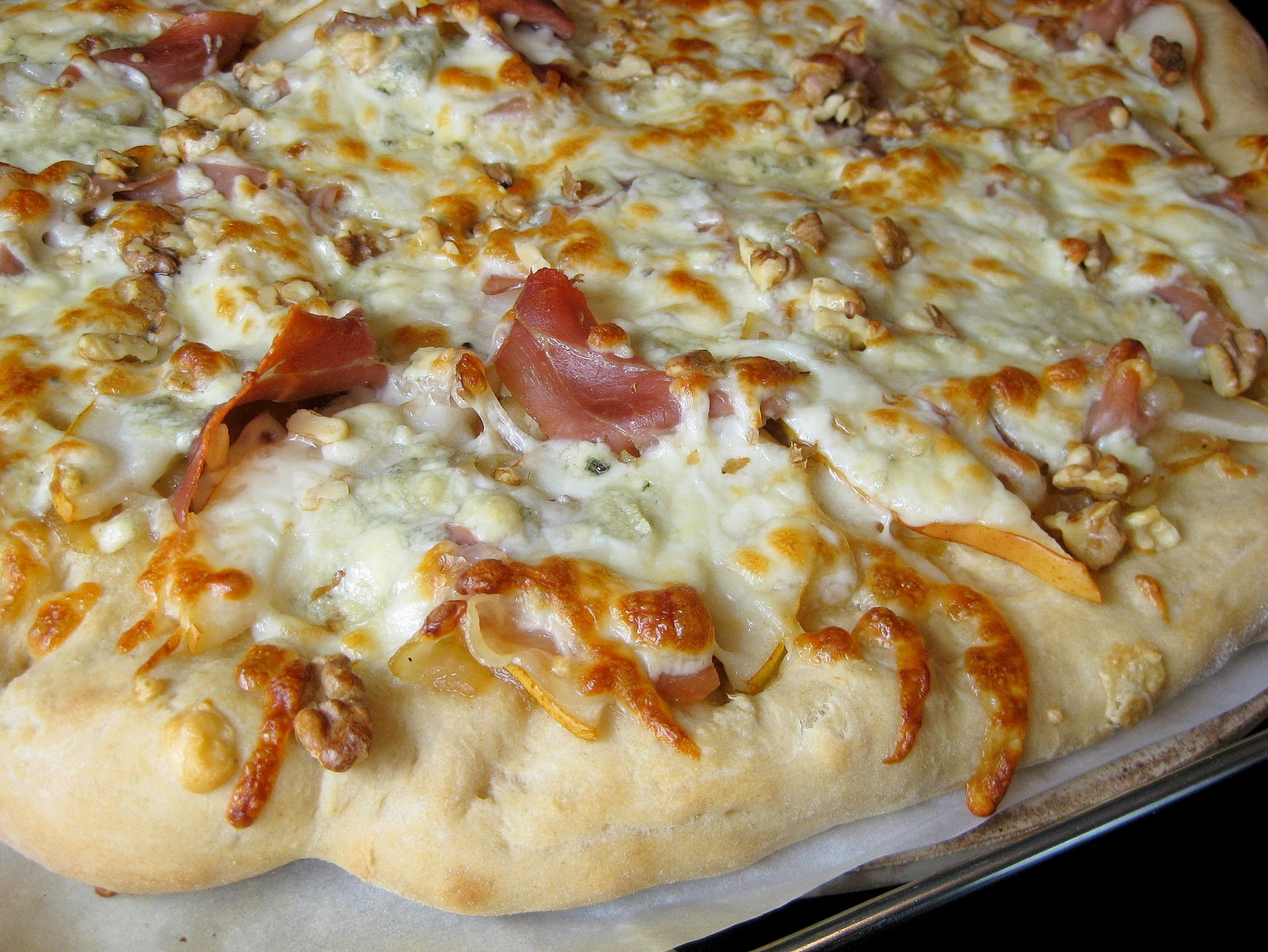 ... Pizza with Caramelized Onions and Gorgonzola | A Hint of Honey